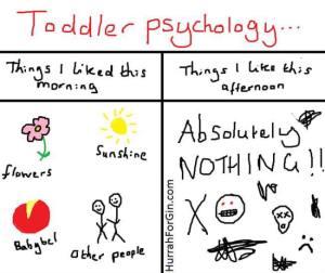 Toddler psychology Hurrah For Gin
